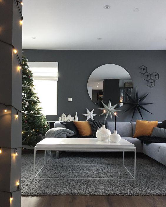 Decoraciones navideñas 2018 para sala de estar
