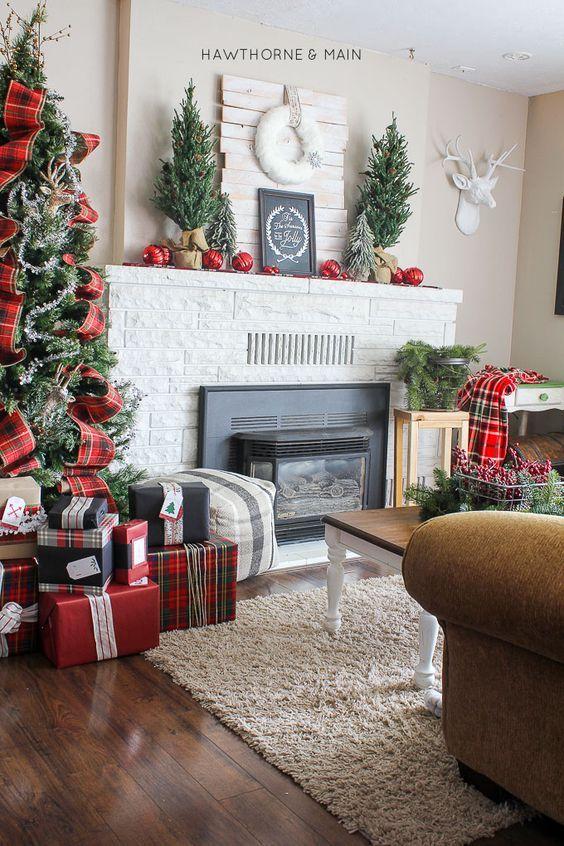 decoraciones navidenas 2018 para sala de estar (6)