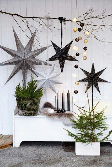 Decoraciones navideñas minimalistas