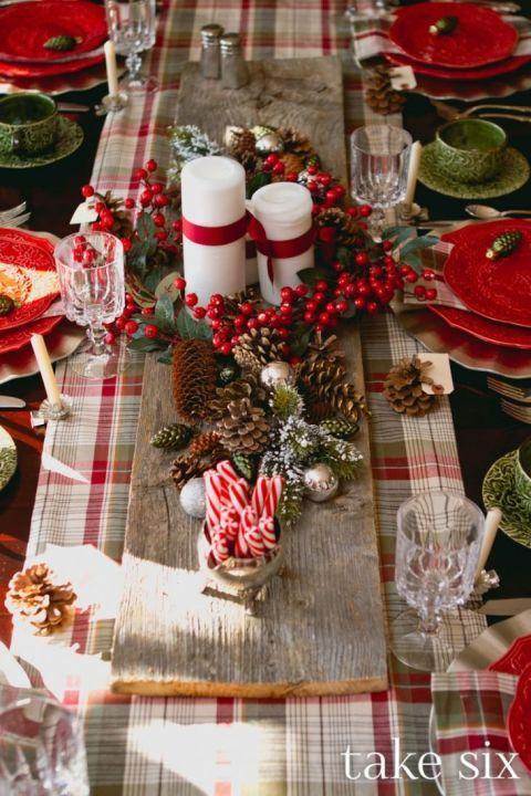 Decoraciones navideñas para el comedor