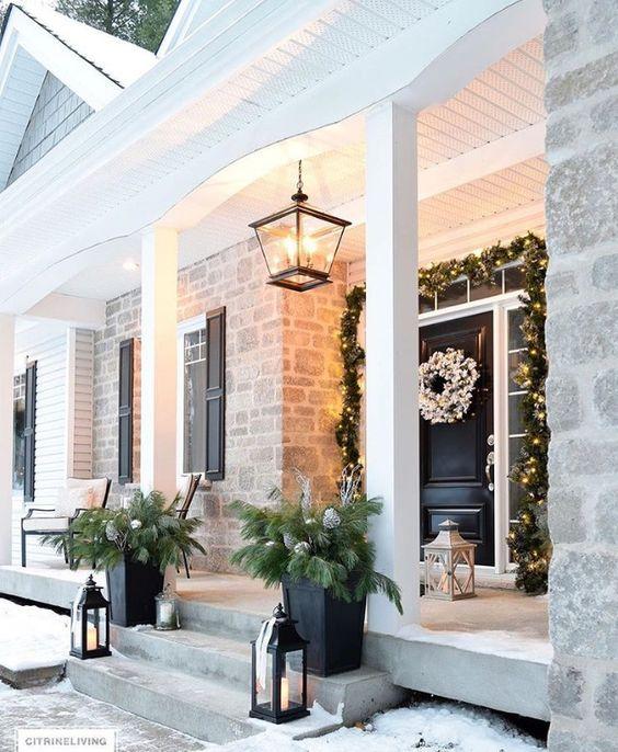 Decoraciones navide as para la entrada de tu casa for Decoraciones navidenas para la casa
