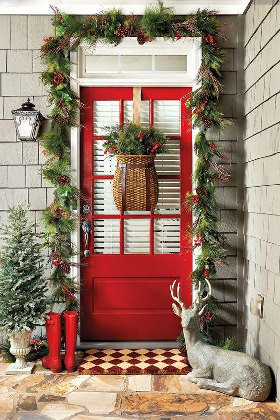 decoraciones navidenas para puertas (1)