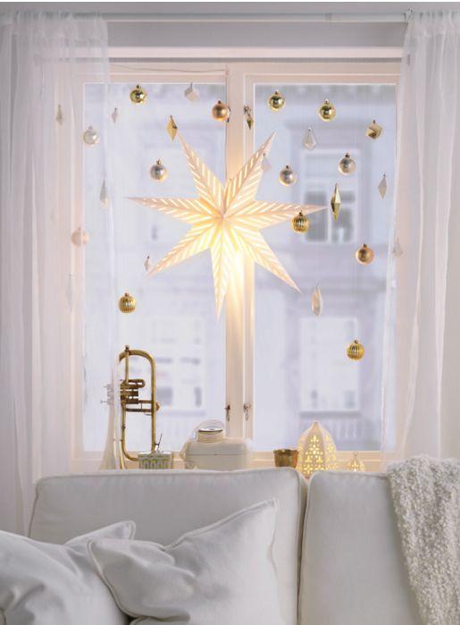 Decoraciones navide as para ventanas como organizar la for Decoraciones navidenas para la casa