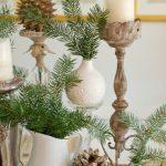 Imágenes de adornos navideños con piñas