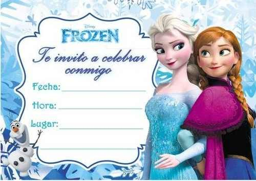 invitaciones de frozen para llenar