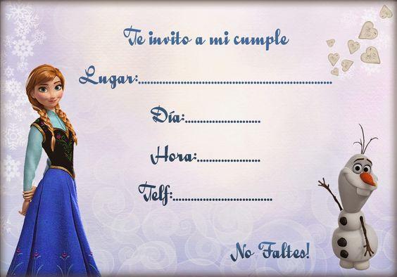 Invitaciones De Frozen Modernas Para Imprimir O Fáciles De Hacer