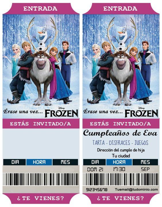 invitaciones de frozen una aventura congelada