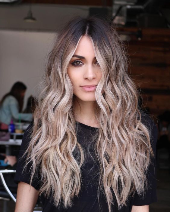Mechas en cabello largo