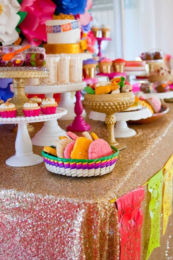 Mesa de postres mexicana decoraci n para eventos 2018 for Decoracion postres