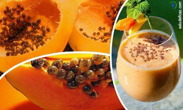 semilla de papaya para bajar la panza