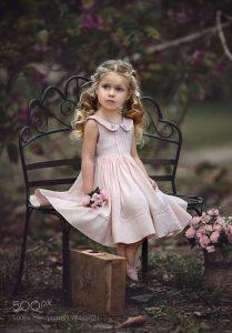 sesion de fotos para niña
