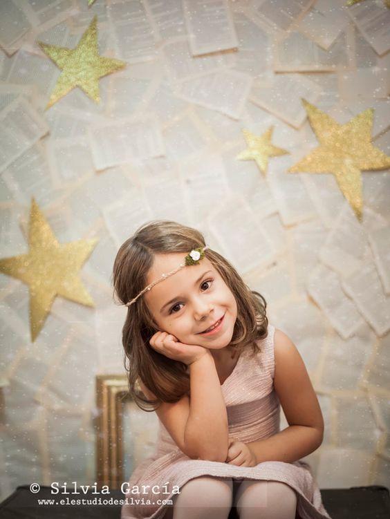 sesion fotografica de niña en estudio