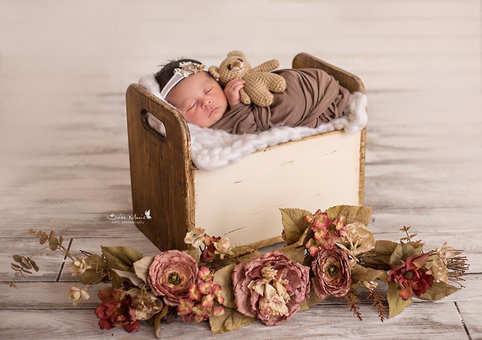 sesion fotograficca para niña recien nacida