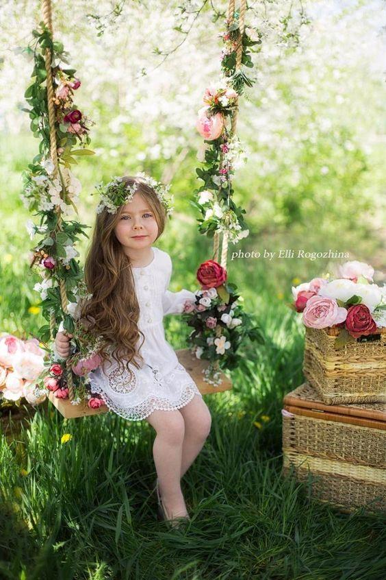 sesion fotografica para niña de cinco años