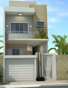 Fachadas de casas de dos pisos con 6 metros al frente de for Acabados apartamentos pequenos