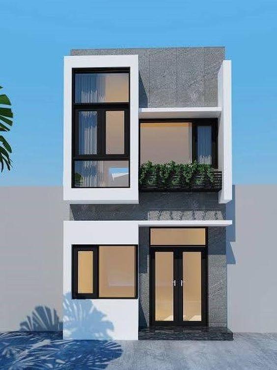 Fachadas de casas de dos pisos con 6 metros al frente de for Casa minimalista de 6 metros