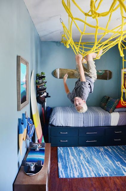 Dormitorios juveniles pequeños modernos y originales para hombres y ...