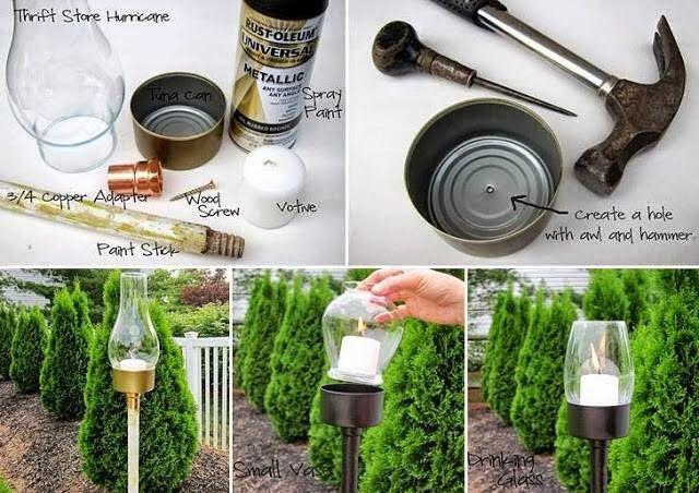 como hacer adornos para jardin con material reciclado