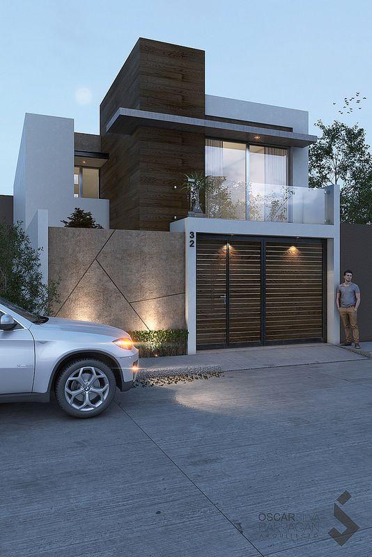 fachadas de casas modernas de 6 metros