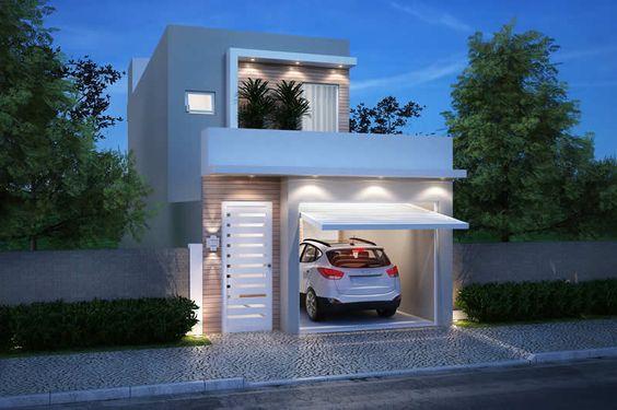 Facades of two story houses with 6 meters in front of for Fachadas de casas modernas de 6 metros
