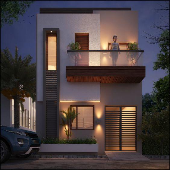 Fachadas de casas de dos pisos con 6 metros al frente de for Fachadas de casas modernas de 6 metros