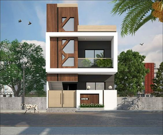 fachadas de casas de dos pisos con 6 metros al frente de On casas modernas de 8 metros de frente