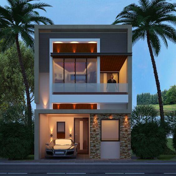 Fachadas de casas modernas de 6 metros como organizar la for Fachadas de casas modernas de 6 metros