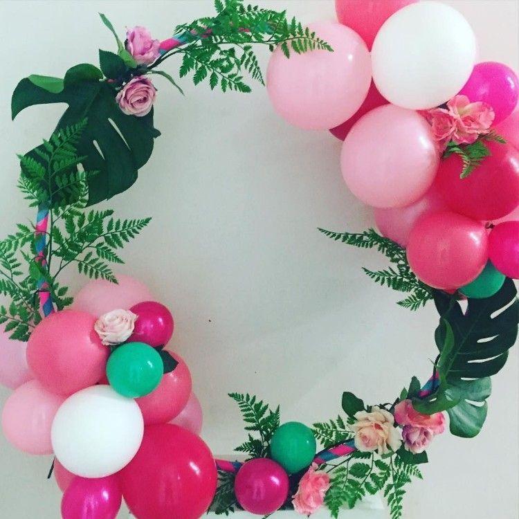 Aros hula hula decorados con globos