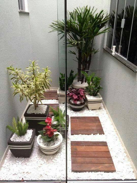 macetas y adornos para jardin de cemento