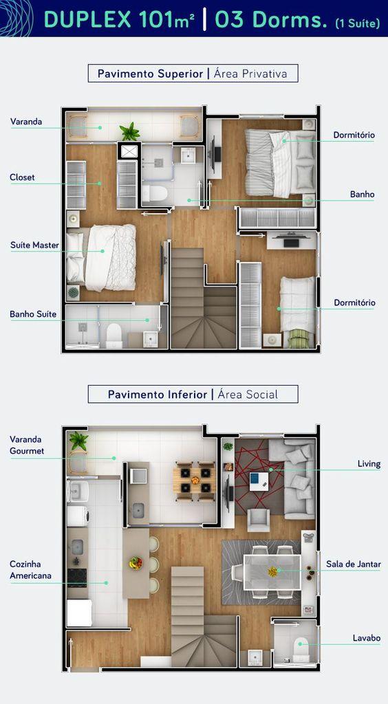 Fachadas de casas de dos pisos con 6 metros al frente de for Diseno apartamentos duplex pequenos