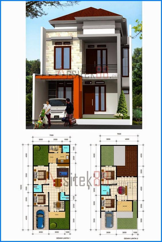 fachadas de casas de dos pisos con 6 metros al frente de On planos casas de 4 metros de frente