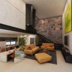 salones modernos con piedra