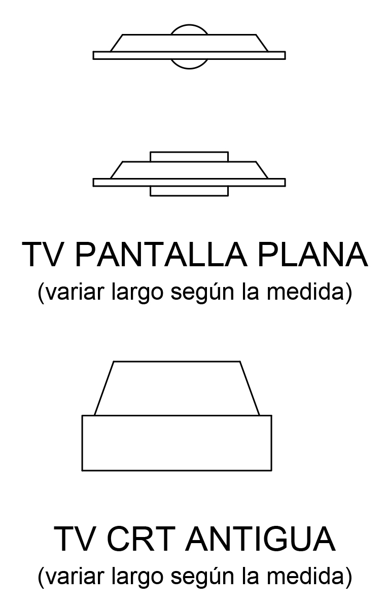 Simbolos De Muebles Para Planos Arquitectonicos A Mano