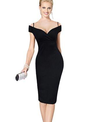 Vestidos tipo lápiz que puedes hacer color negro