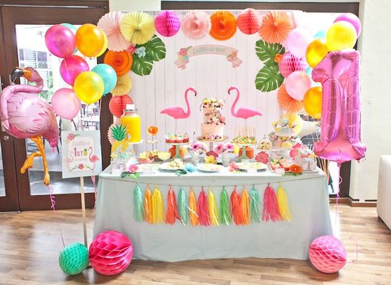 Accesorios para fiesta de flamingo