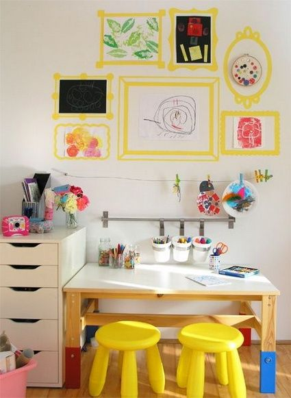 Cuarto de estudio para niños