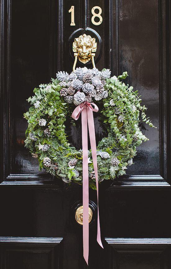 Diseños de coronas navideñas modernas