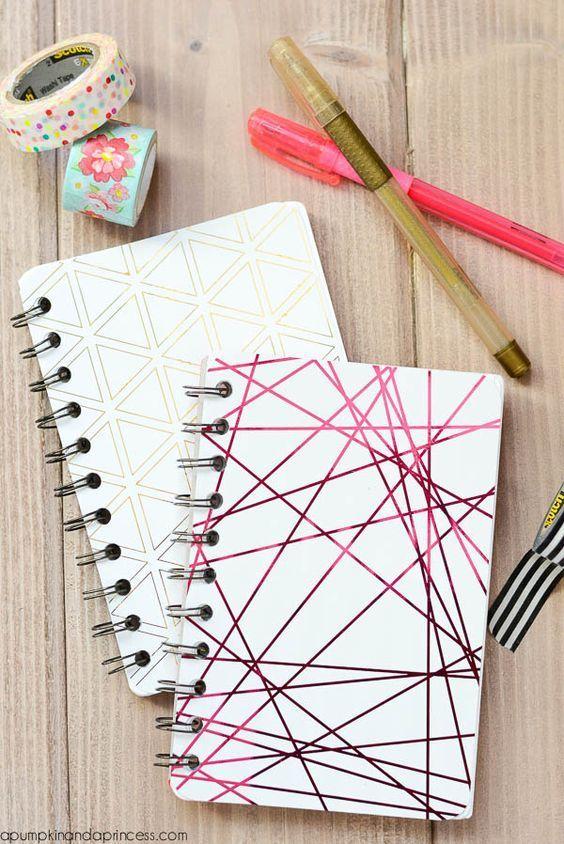 Ideas para decorar libretas sencillas