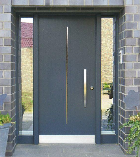 Catalogo de puertas para exterior materiales estilos y acabados - Puertas de aluminio de exterior ...