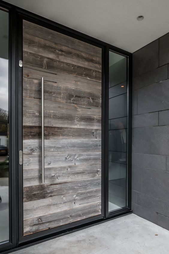 Catalogo de puertas para exterior materiales estilos y for Puertas de madera modernas para exterior