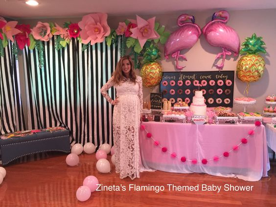 Baby shower de flamingos