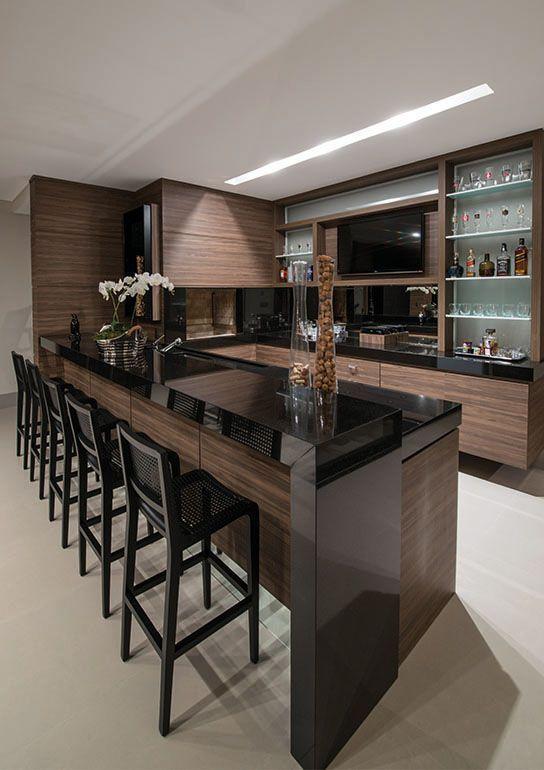 Cocinas de madera modernas con isla