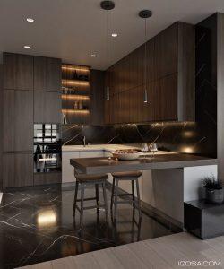 cocinas de madera modernas pequenas (3)