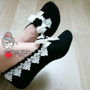 como hacer pantunflas modernas crochet 15
