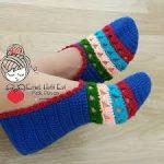 como hacer pantunflas modernas crochet