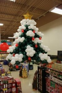 decoracion de navidad con globos