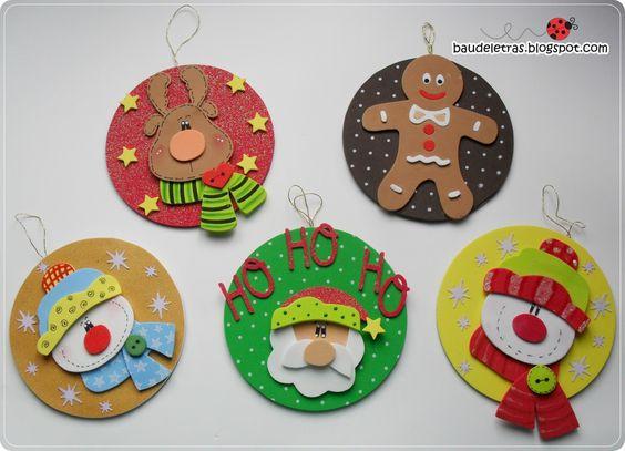 decoracion de navidad en foami o goma eva