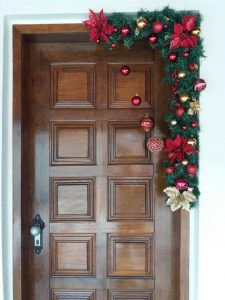decoracion de navidad para puertas
