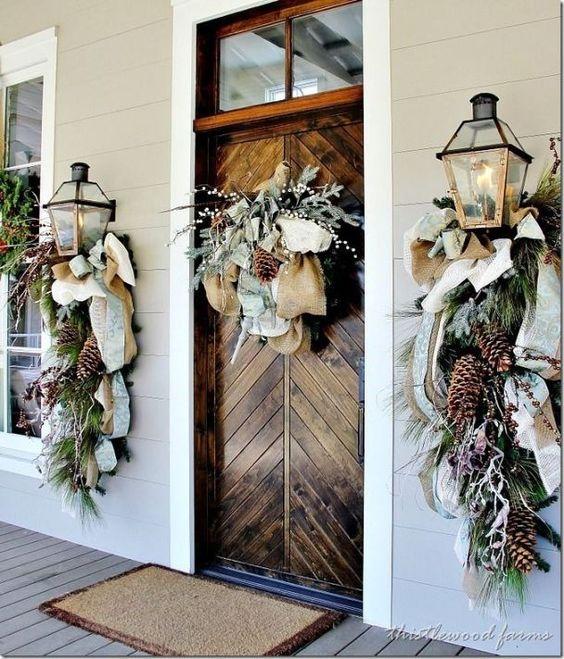 decoracion navidad con piñas