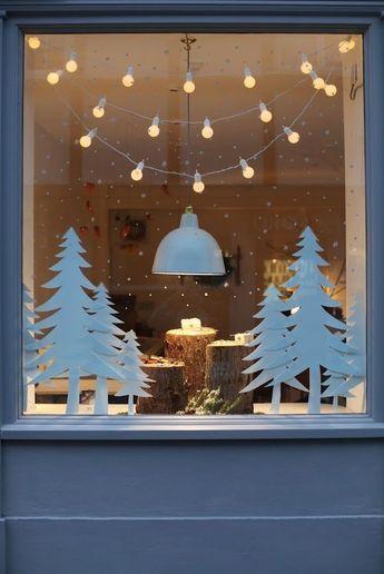 decoracion navidad para ventanas